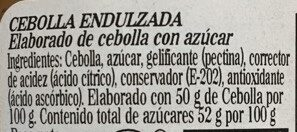 Cebolla endulzada - Ingredientes - es