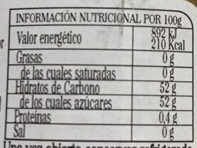 Cebolla endulzada - Información nutricional - es