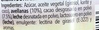 Crema de avellanas al cacao - Ingredientes