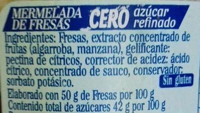 Fresas mermelada - Ingredients
