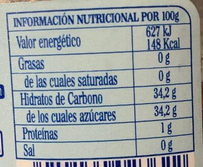 Fresas mermelada - Informació nutricional