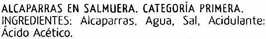 "Alcaparras ""Fragata"" - Ingredients"