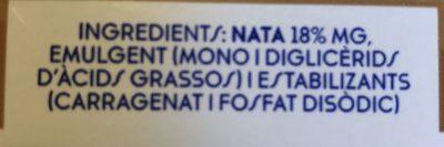 Nata De Cuina Bric De Ato - Ingredientes