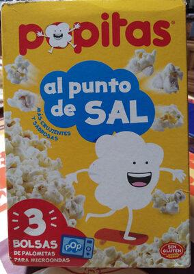 Sabor natural con sal palomitas para microondas pack 3x100 g estuche 300 g - Producto