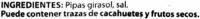 Semillas de girasol con cáscara tostadas aguasal - Ingrédients - es