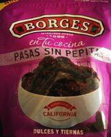 Pasas de California sin pepitas estuche 150 g - Produit