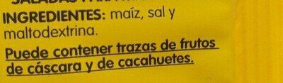 Palomitas Popitas Zero - Ingredientes - es