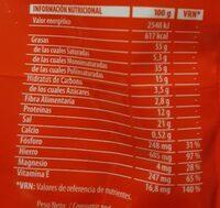 Almendra largueta - Informations nutritionnelles