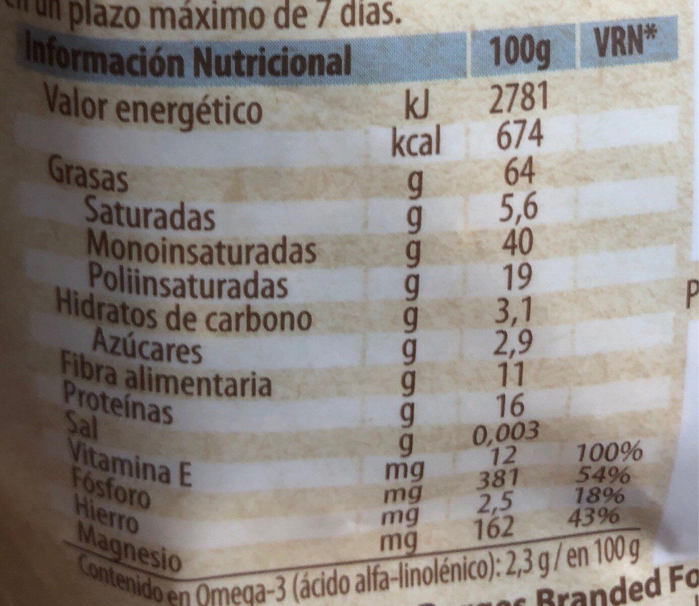 Natura cóctel de frutos secos crudos natural - Informations nutritionnelles