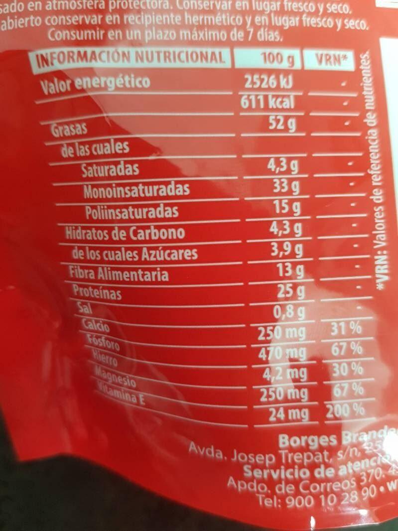 Almendras fritas - Información nutricional - es