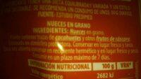 Nueces en Grano - Ingrediënten