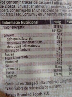 Ametlles mas de colom - Voedingswaarden