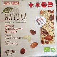 Eco Natura barritas de frutos secos con fruta - Produit