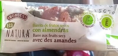 Barritas de frutos secos con almendras - Producto