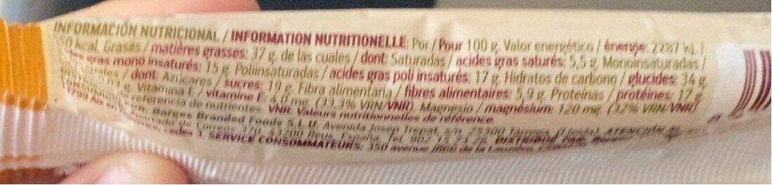 Natura barrita - Informations nutritionnelles - es