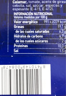 Calamares - Ingredients - fr