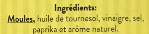 Moules à l'Escabèche - Ingrediënten - fr