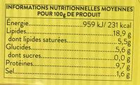 Moules à l'Escabèche - Voedingswaarden - fr