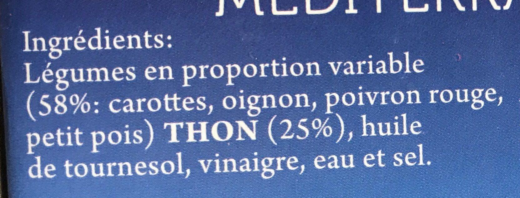 Salade de thon Méditerranée - Ingrediënten - fr