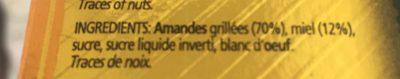 Turrón de Jijona - Ingredients
