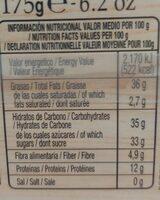 Turrón de Alicante - Información nutricional - es