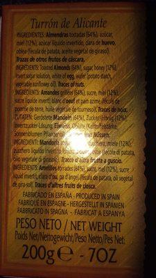 AntiuXixona - Ingredientes - fr