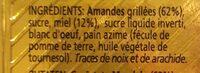 Turrón de Alicante - Ingredients