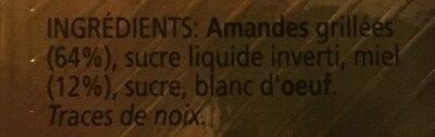 Antiu Xixona Touron Jijona Etiquette Blanche - Ingrediënten
