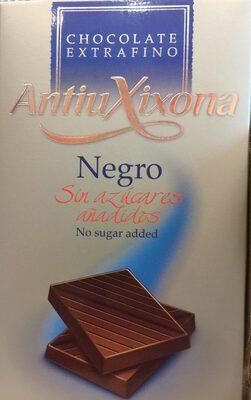 Chocolate Negro sin azucares añadidos