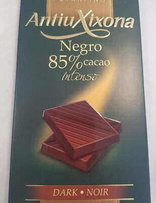 Chocolate extrafino negro 85% cacao intenso