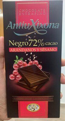 Negro 72% cacao - Arándanos y sésamo