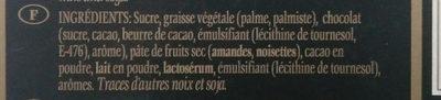 Turrón chocolate trufado - Inhaltsstoffe - fr