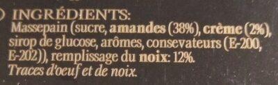 Turron Bata nueces - Inhaltsstoffe - fr