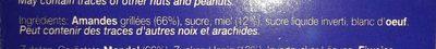 Turron de jijona - Ingrediënten - fr
