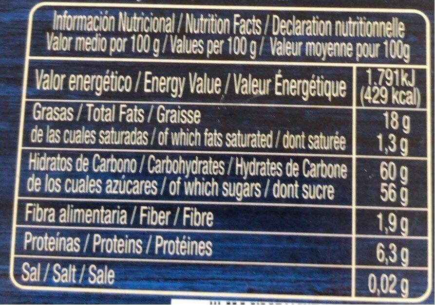 Turrón - Voedingswaarden - fr