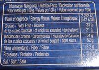 La Fama turrón cafe - Voedingswaarden - es