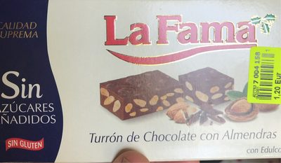 Turron de Chocolate con Almendras - Product