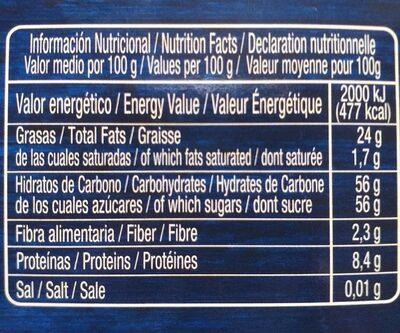 Figuritas de Mazapán - Voedingswaarden - fr