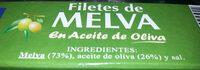 Filetes de melva - Ingredientes - es