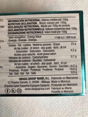 Sardinas sin piel ni espina en aceite de oliva - Nutrition facts
