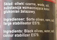 Oliwki Czarne Krojone - Ingredients - pl