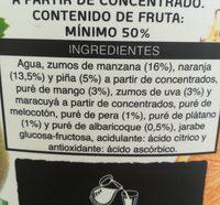 Nectar Multifrutas - Ingrédients - fr