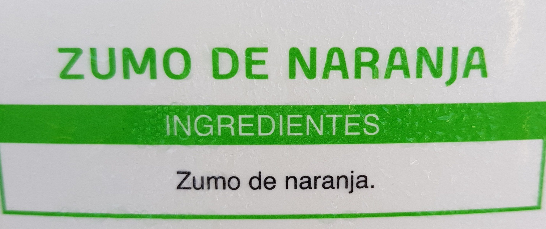 Zumo de naranja - Ingrédients
