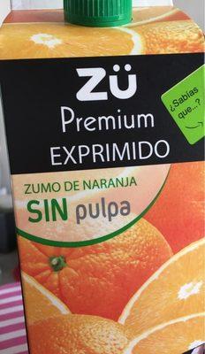 Zumo de naranja sin pulpa Premium exprimido - Product - es