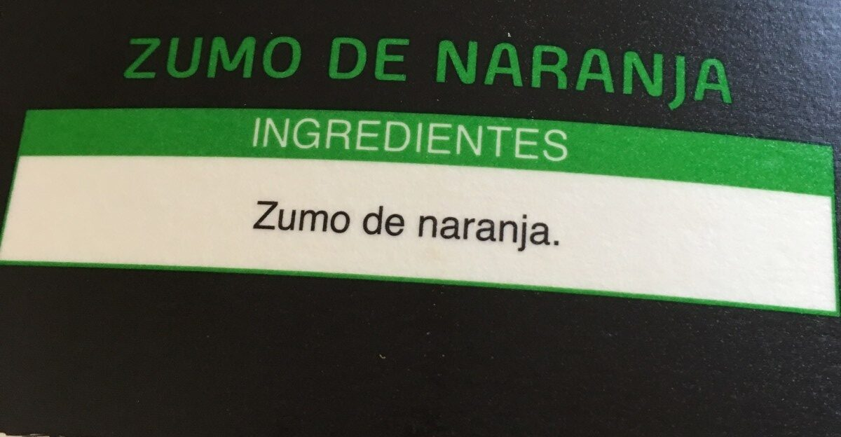 Zumo de naranja sin pulpa Premium exprimido - Ingredients - es