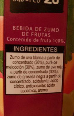 MELOCOTON-UVA ROJA  PECHE-RAISIN ROUGE - Ingredients
