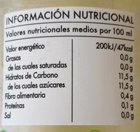 Limonada - Informations nutritionnelles - es