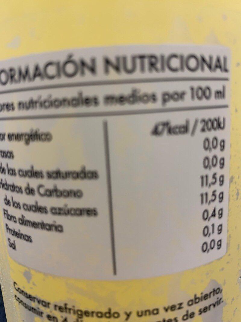 Limonada - Informació nutricional