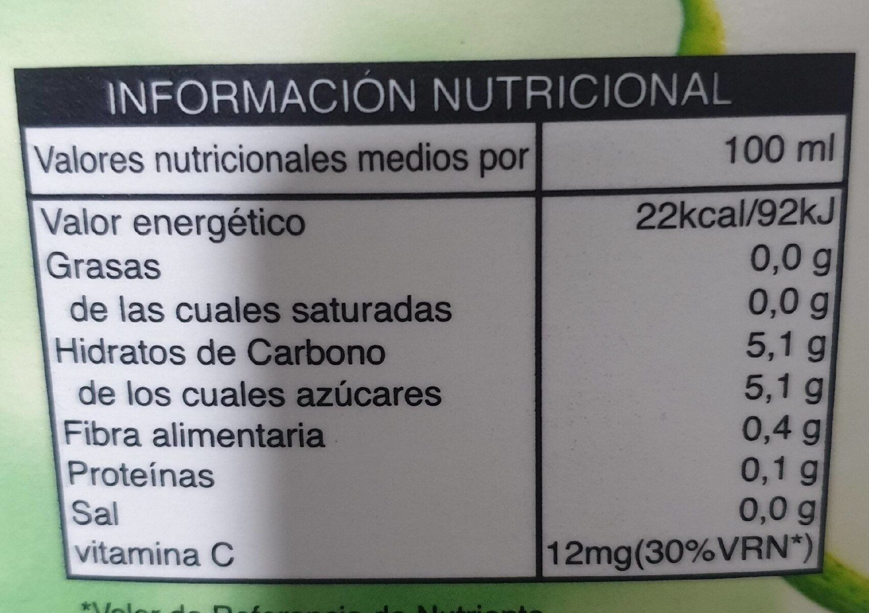 informacion nutricional de 1 pera