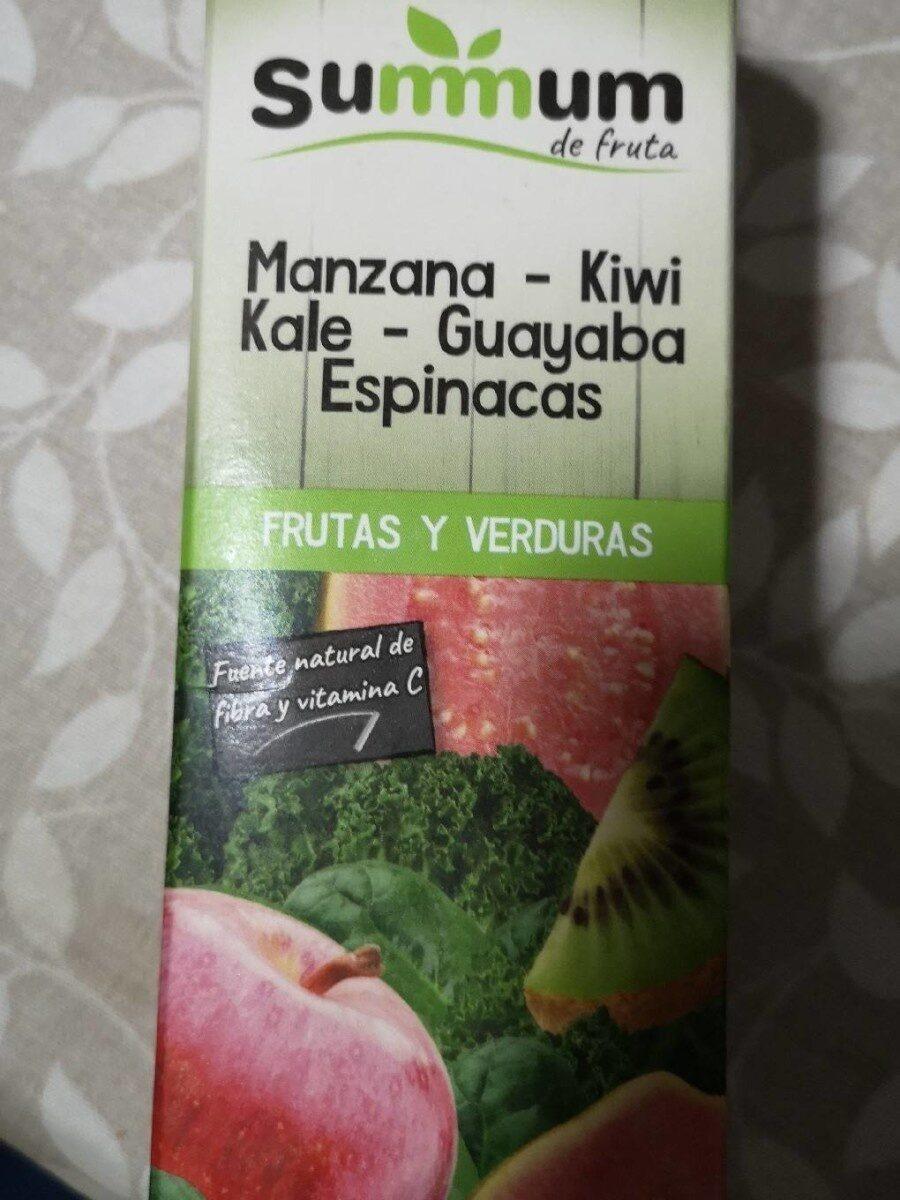 Zumo manzana kiwi kale guayaba espinacas - Product - es